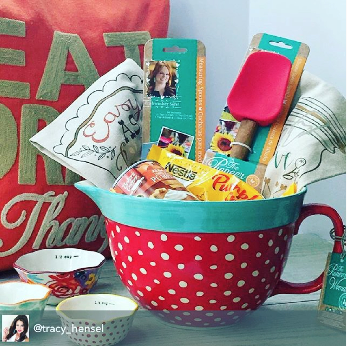 10 Famous Gift Basket Ideas For Women great gift idea featuring the new pioneer woman mixing bowl 1 2020