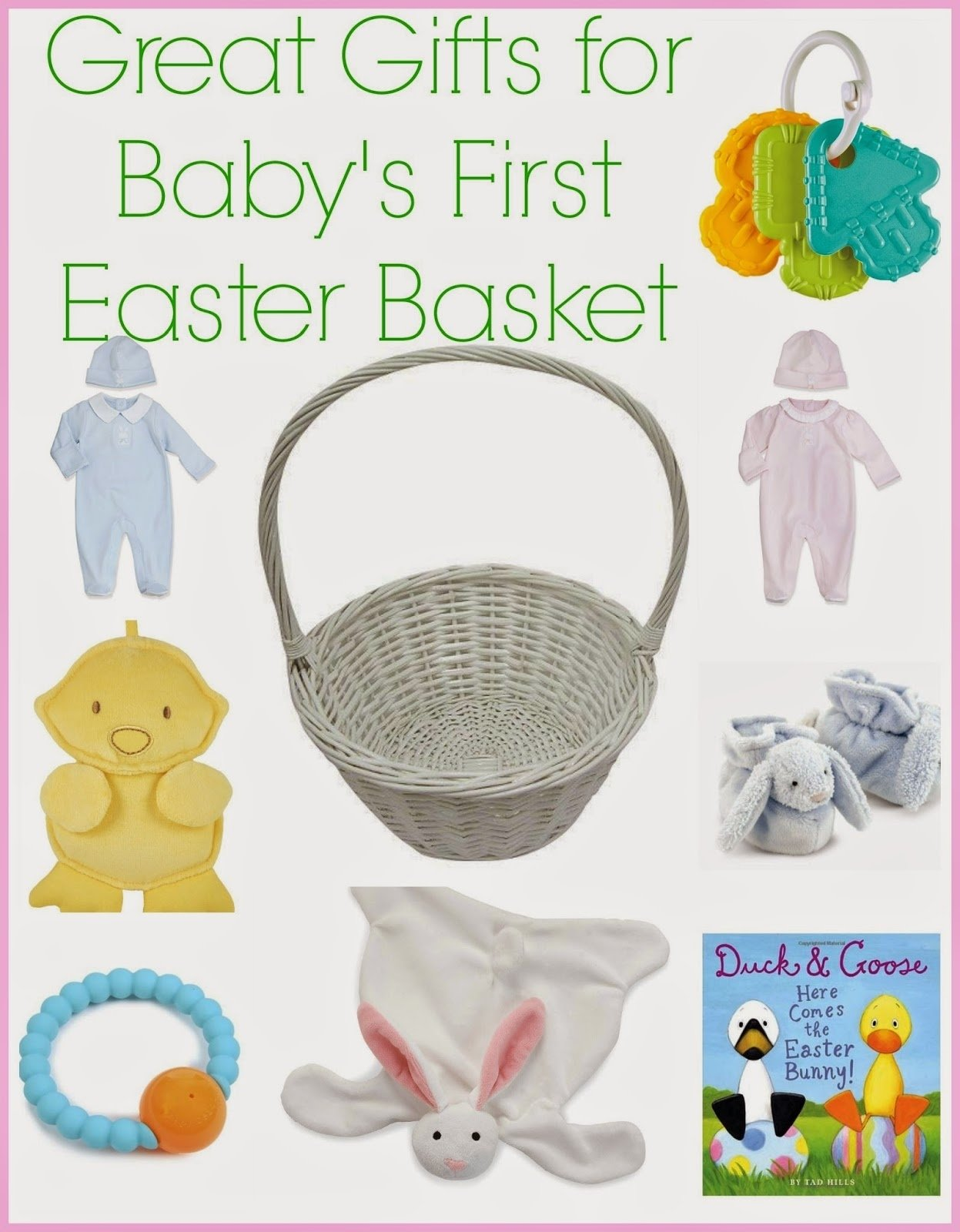 10 Stylish Baby First Easter Basket Ideas great gifts for babys first easter the chirping moms