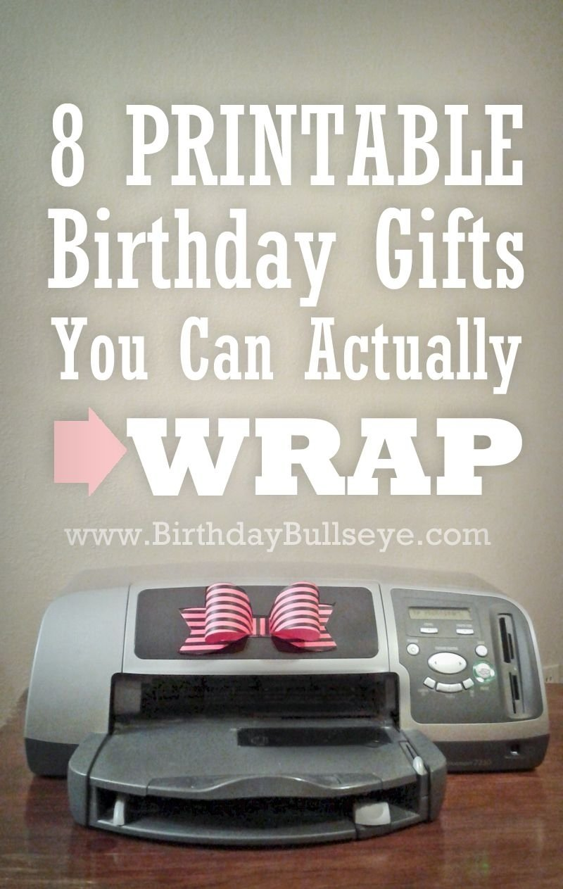 10 Fashionable Last Minute Birthday Gift Ideas great list of last minute gifts 8 printable birthday gifts you can