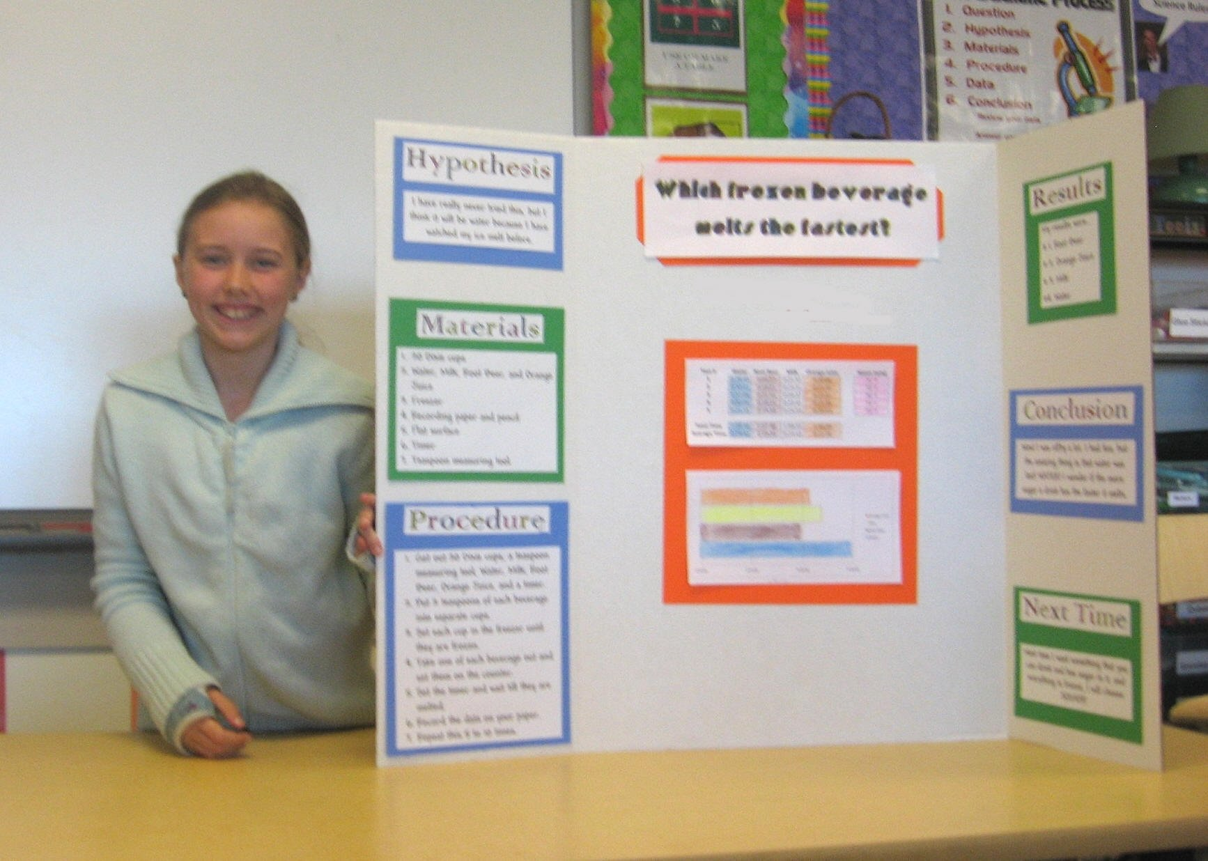 10 Famous Science Fair Projects Ideas For 4Th Graders great science fair project ideaswhich popsicle melts the fastest 2