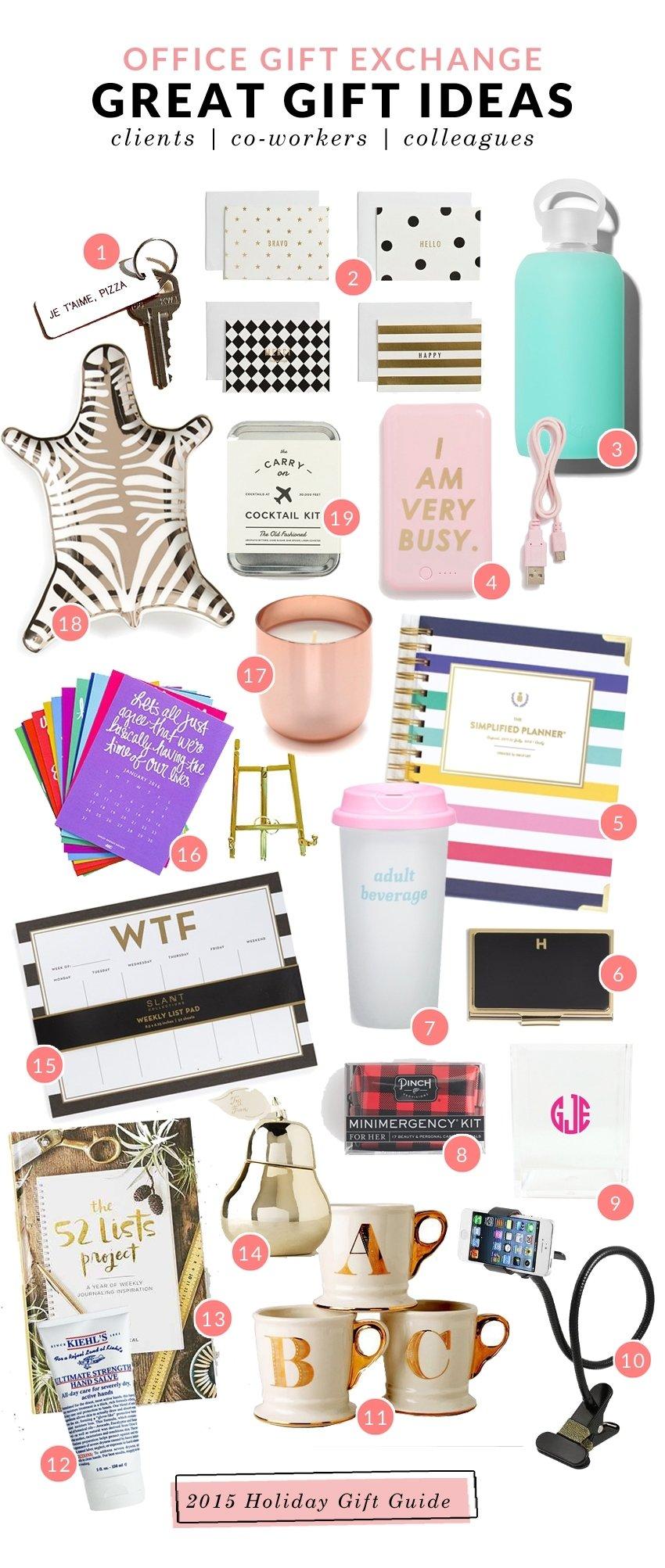 10 Fashionable Secret Santa Gift Exchange Ideas great secret santa gift ideas for co workers or clients 2