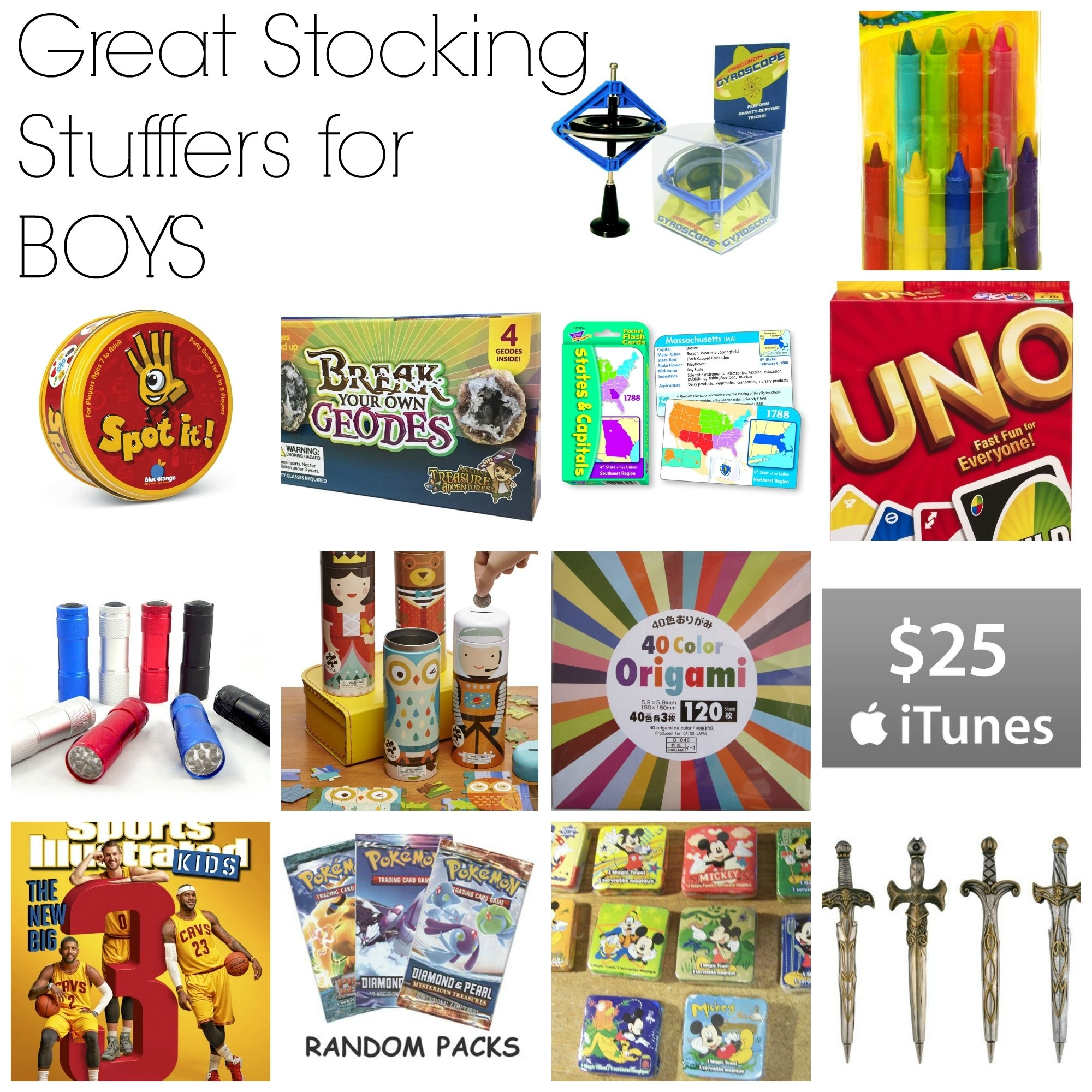 10 Wonderful Good Ideas For Stocking Stuffers great stocking stuffers for boys brooke romney writes 1 2020