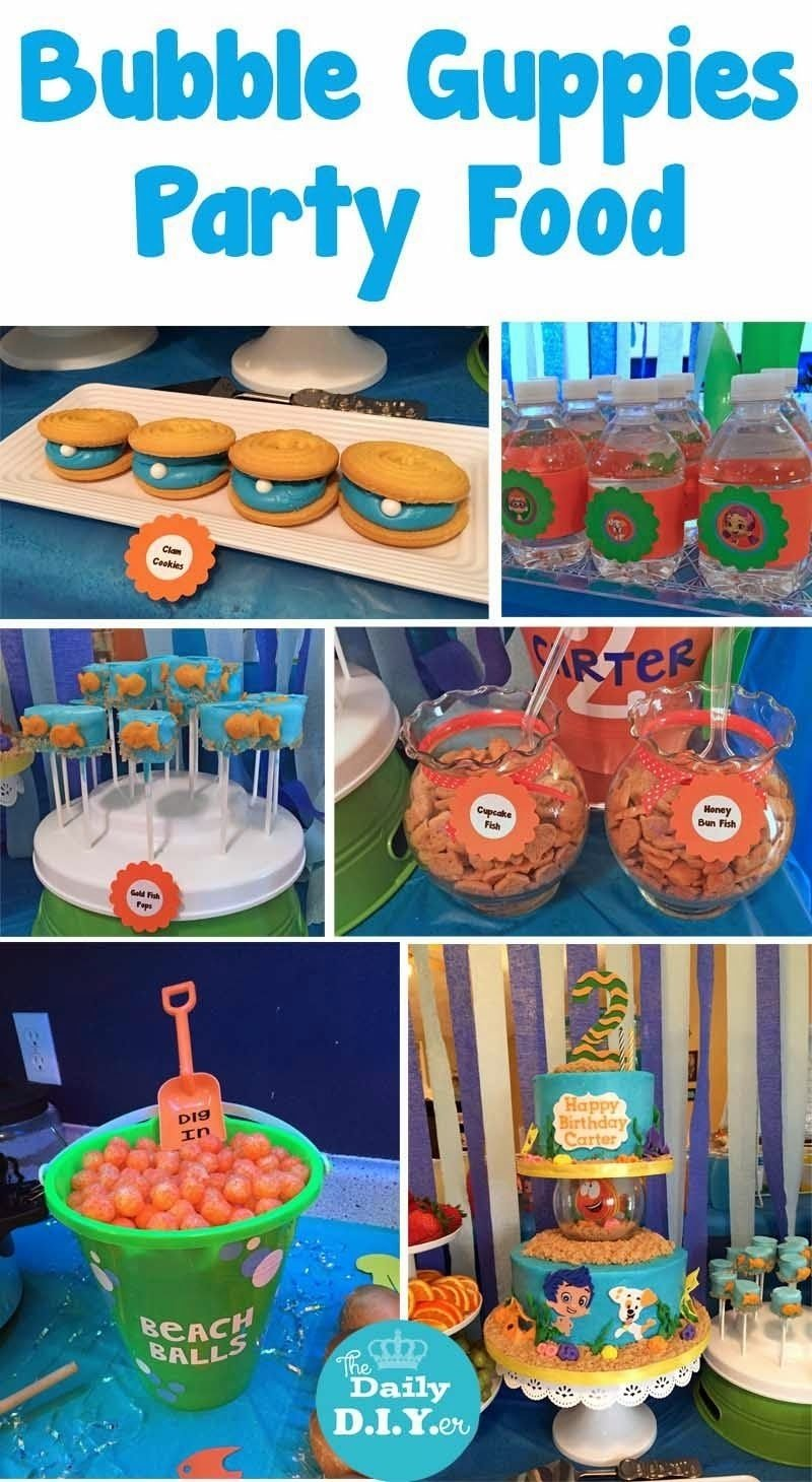 10 Gorgeous Bubble Guppies Party Food Ideas great under the sea themed party food and dessert the daily diyer 2 2020