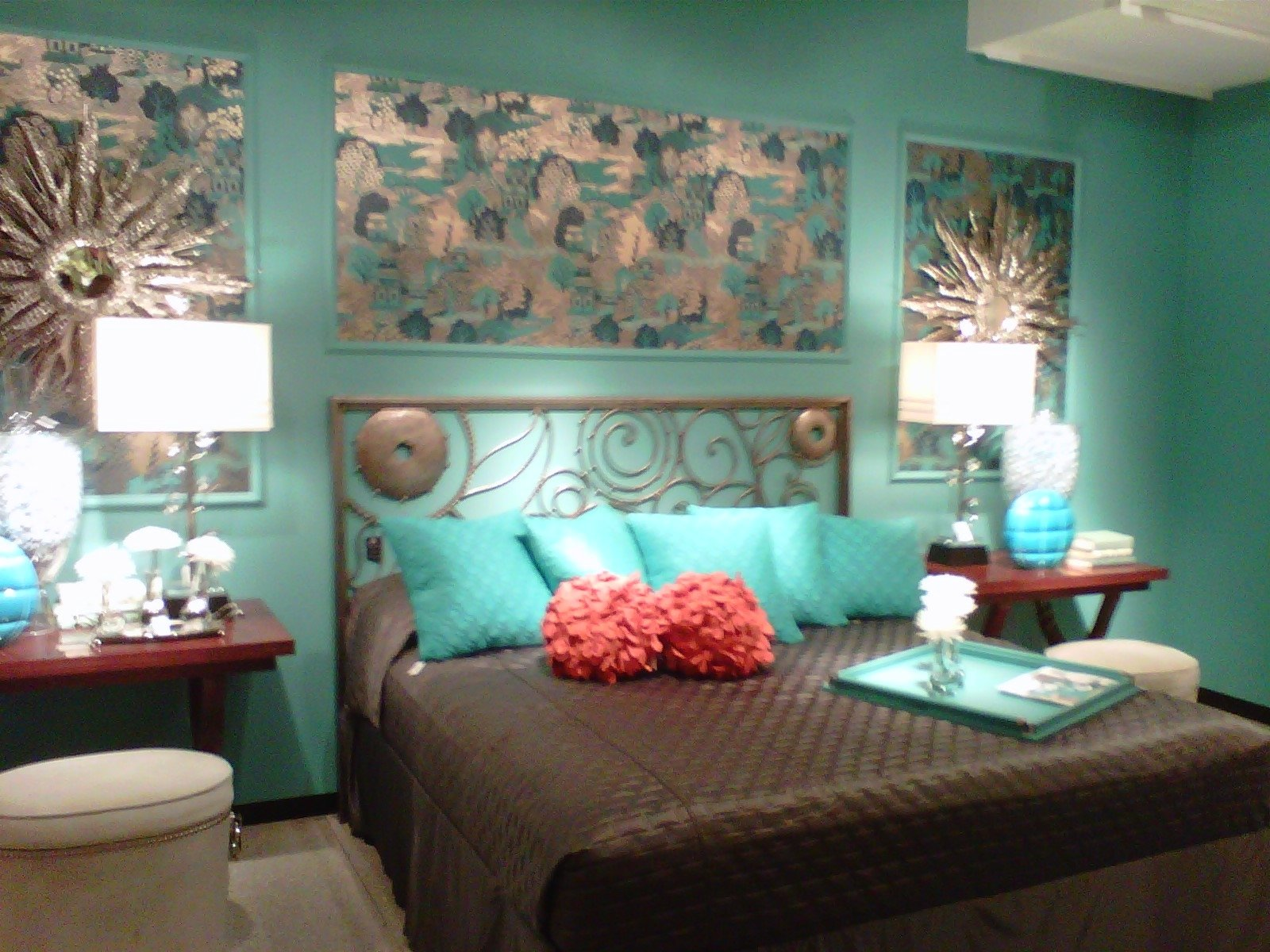 10 Most Popular Teal And Brown Bedroom Ideas green and turquoise bedrooms maxwell house of design favorite 2021