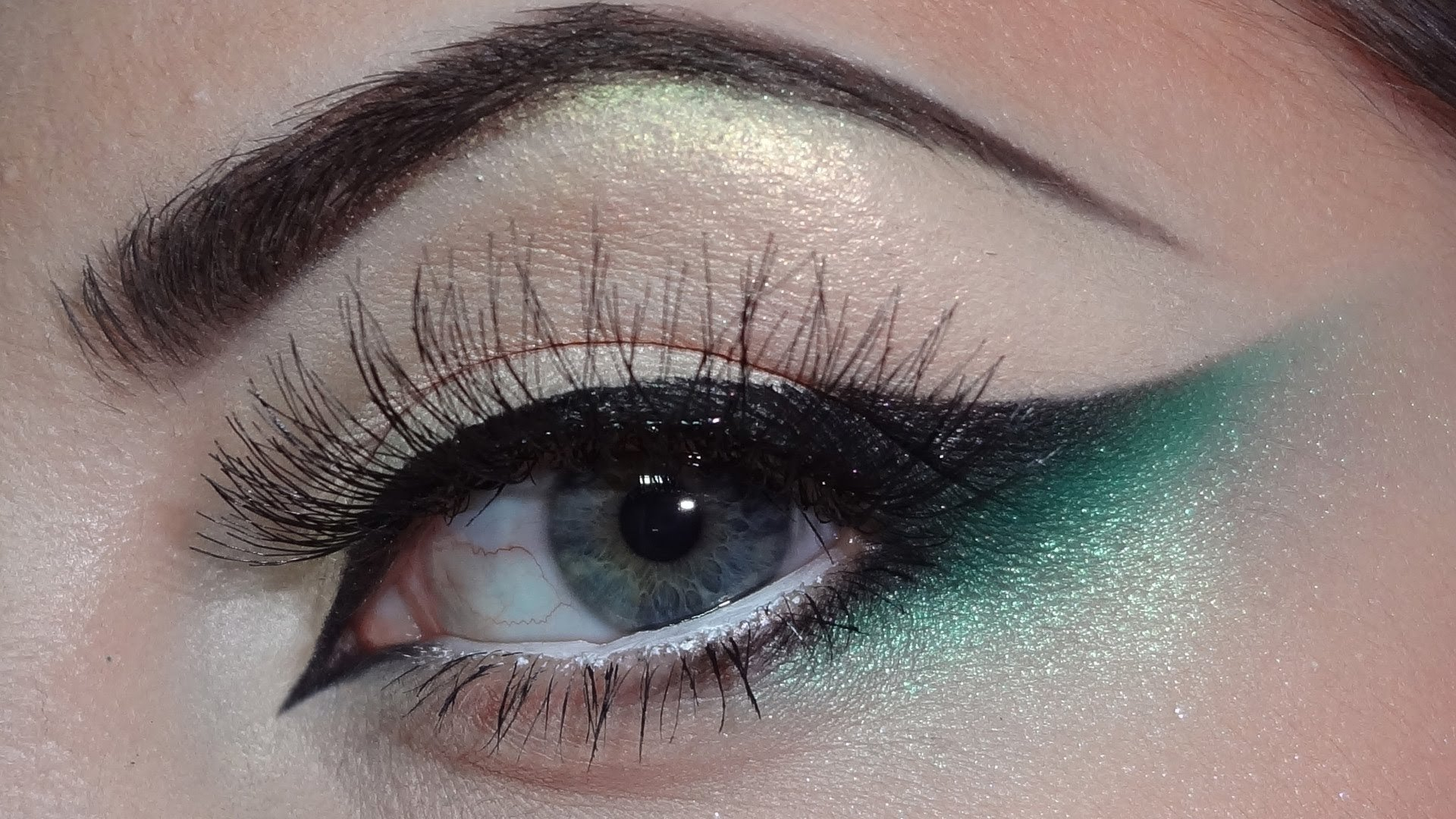 10 Nice Eyeshadow Ideas For Green Eyes green black cat eye makeup youtube