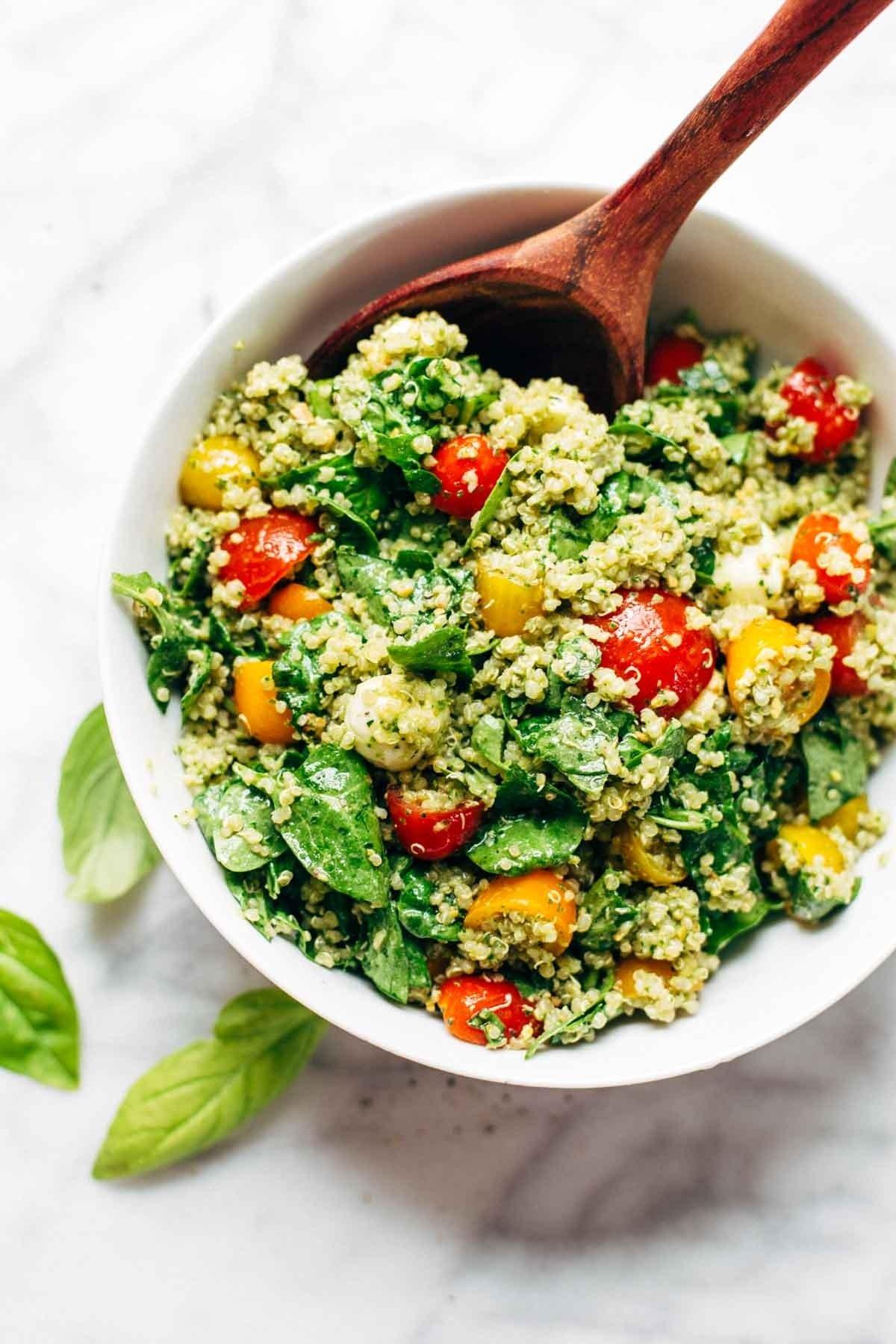 10 Famous Light Dinner Ideas For Summer green goddess quinoa summer salad recipe pinch of yum