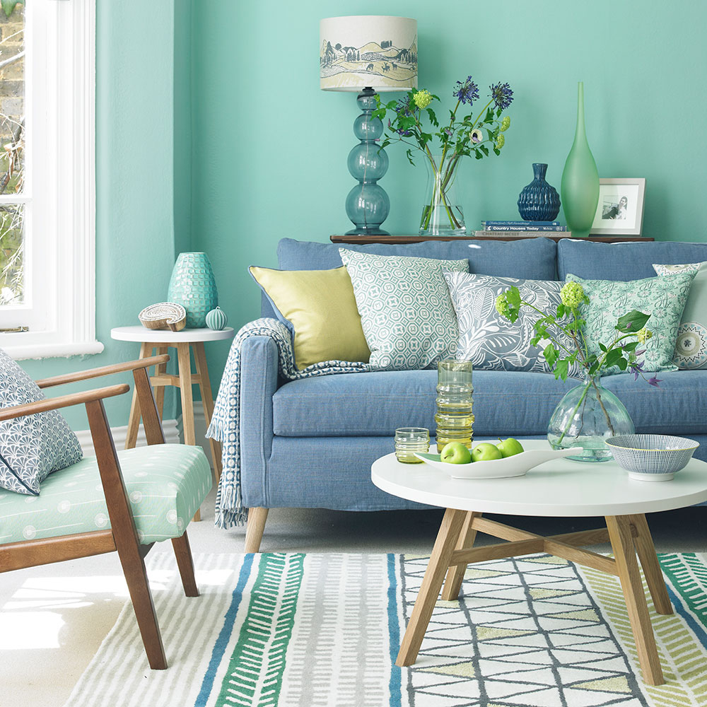 10 Stylish Green And Blue Room Ideas green living room ideas for soothing sophisticated spaces 2
