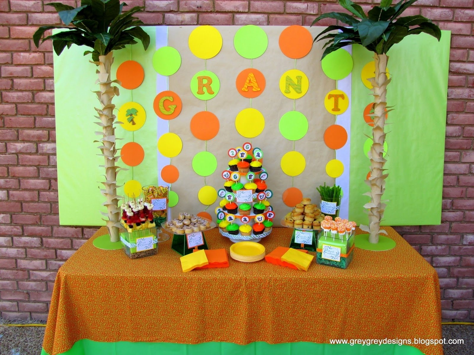 10 Attractive 2Nd Birthday Party Ideas For Boys Greygrey Designs My Parties Grants Jungle Book 2nd