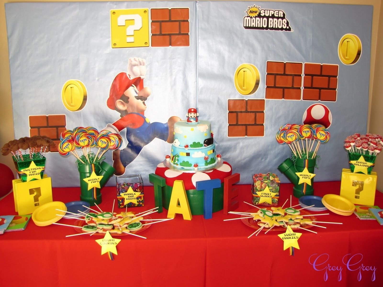 10 Lovely Super Mario Brothers Party Ideas greygrey designs my parties super mario birthday party lots of 1 2020