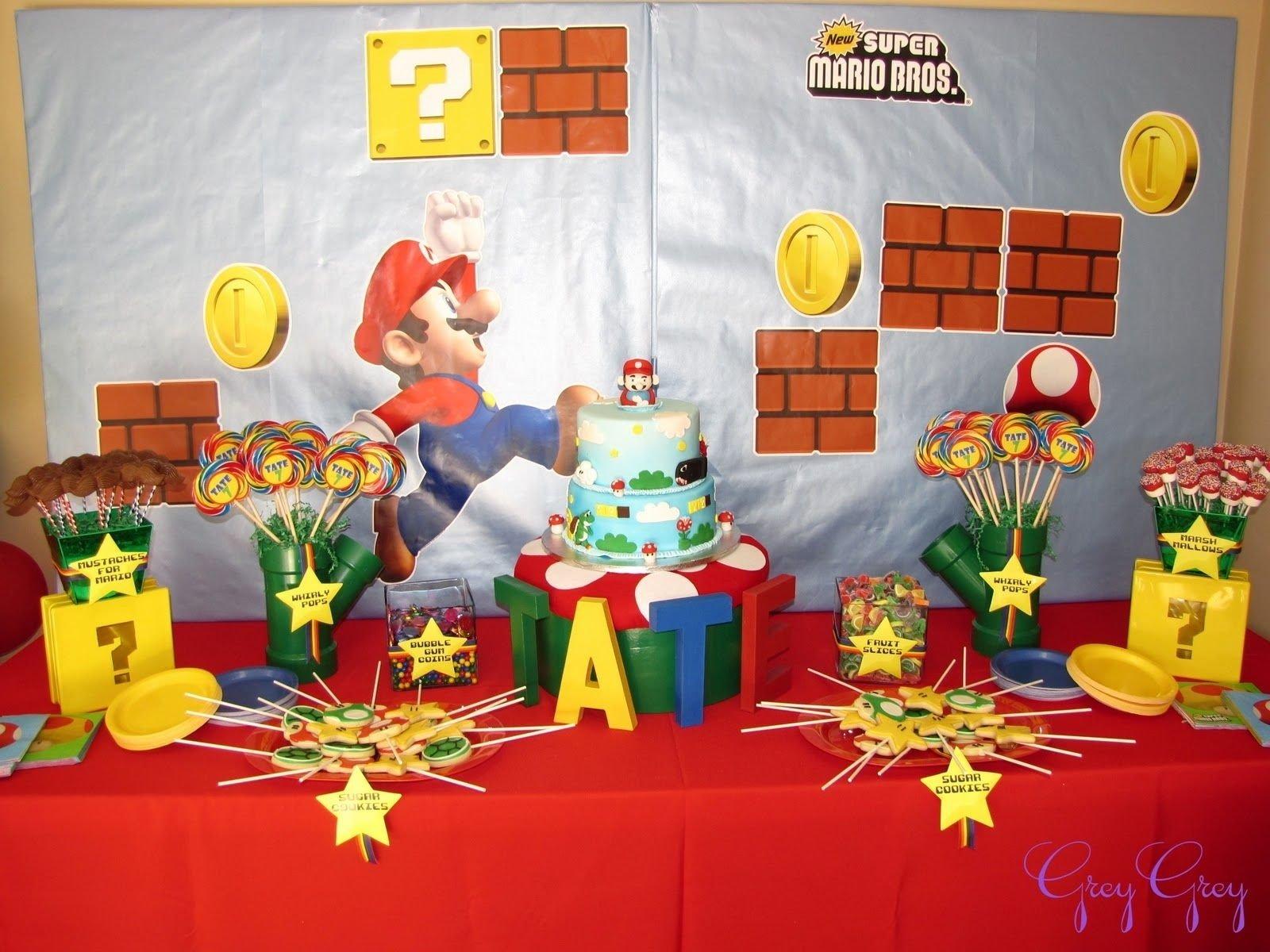 10 Fabulous Super Mario Brothers Birthday Party Ideas greygrey designs my parties super mario birthday party lots of 2020