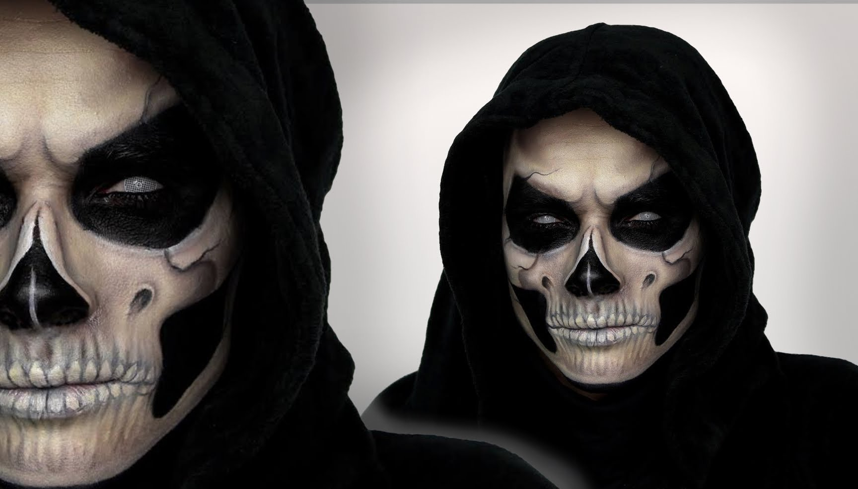 10 Best Halloween Makeup Ideas For Men grim reaper makeup tutorial for halloween shonagh scott showme 2020