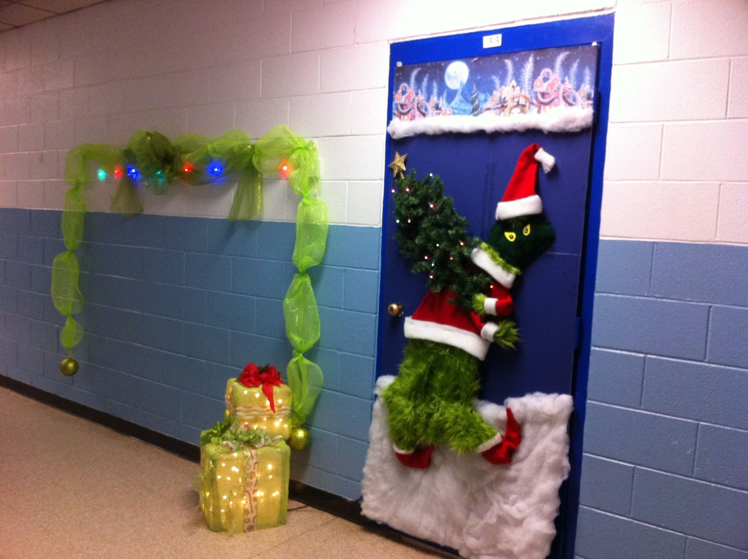 10 Stunning Door Decorating Ideas For Christmas grinch door decorating contest entry dr seuss pinterest 1