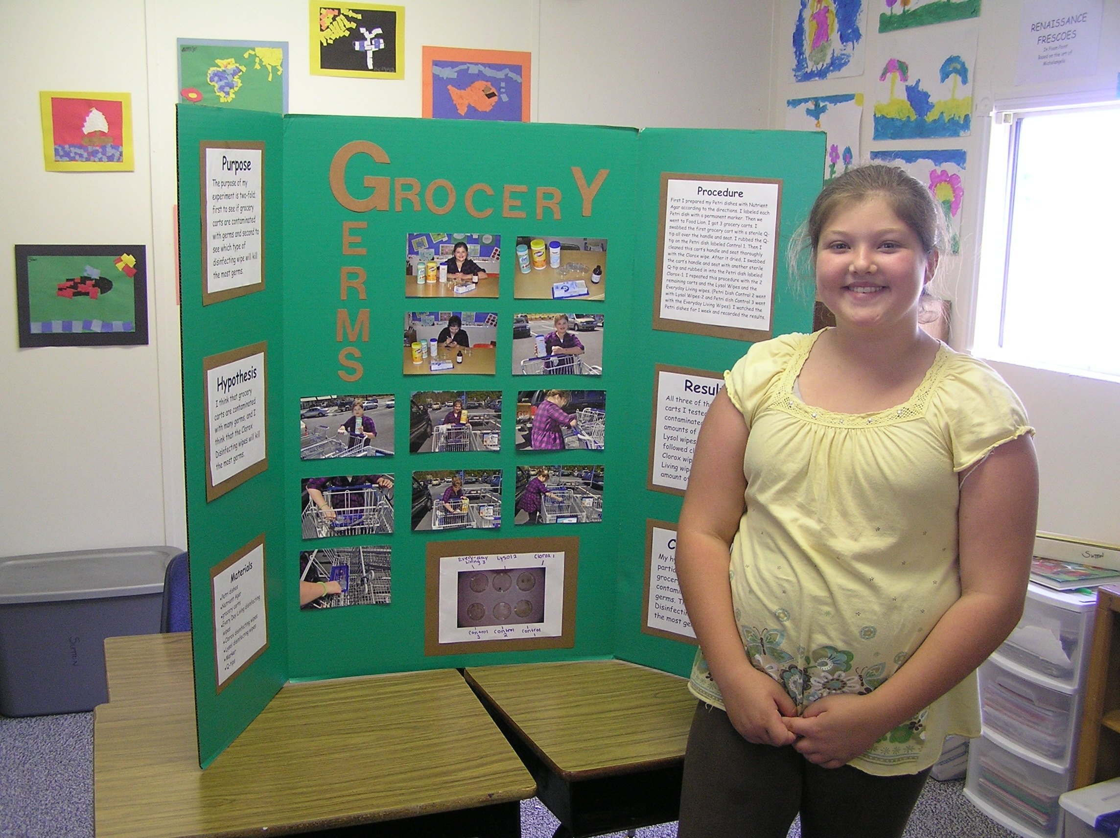 10 Spectacular 1St Grade Science Fair Ideas grocery germs whats on that cart handle science fair 2020