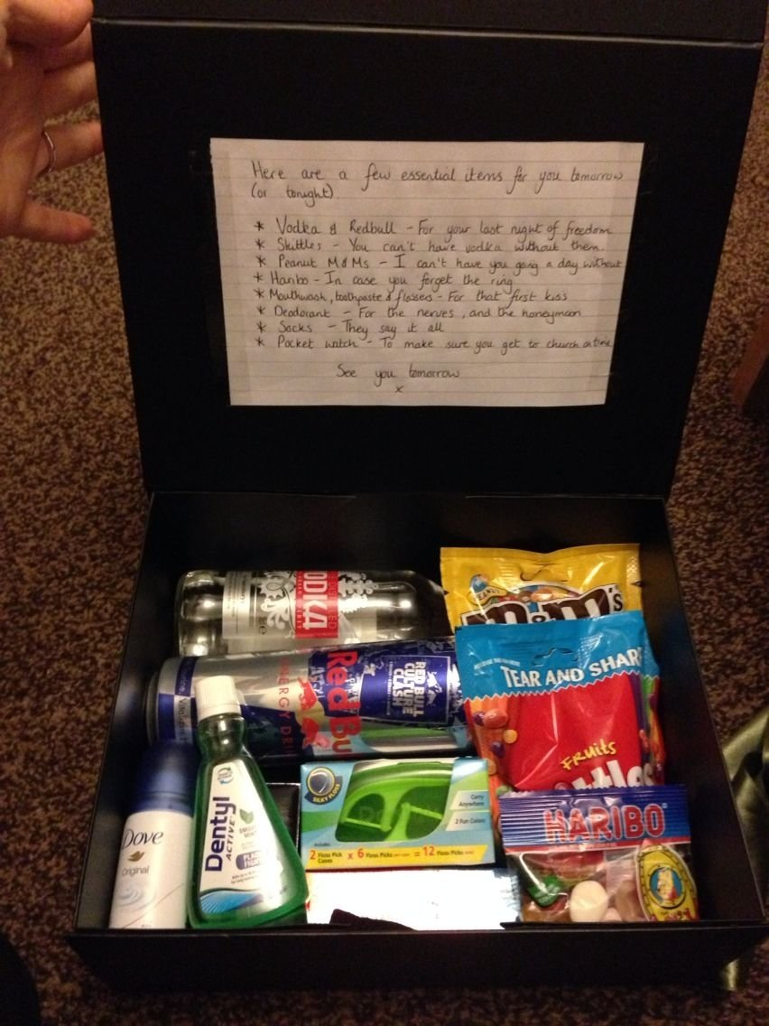 10 Lovable Grooms Gift From Bride Ideas groom present from bride a few bits i put together for my groom and 3 2021