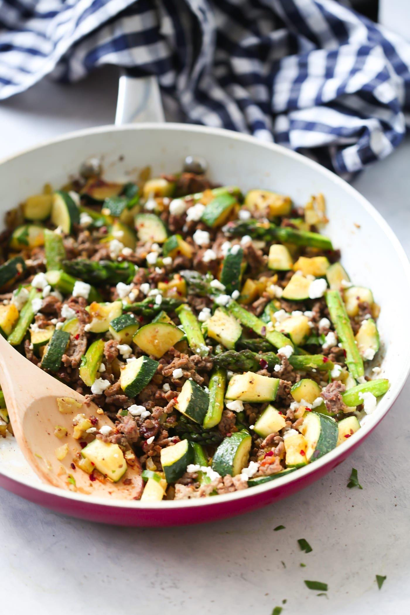 10 Cute Ideas For Dinner With Ground Beef ground beef veggie skillet recipe primavera kitchen 4 2020