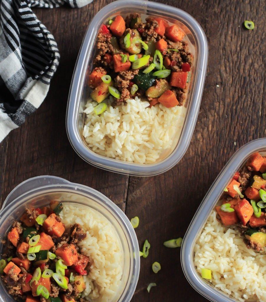 10 Stylish Recipe Ideas For Ground Beef ground beef zucchini sweet potato skillet meal prep primavera 1 2020