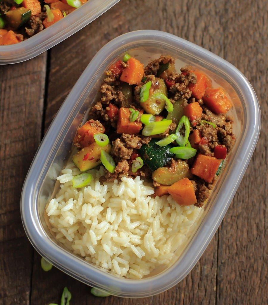 10 Pretty Dinner Ideas For Ground Turkey ground beef zucchini sweet potato skillet meal prep primavera 6