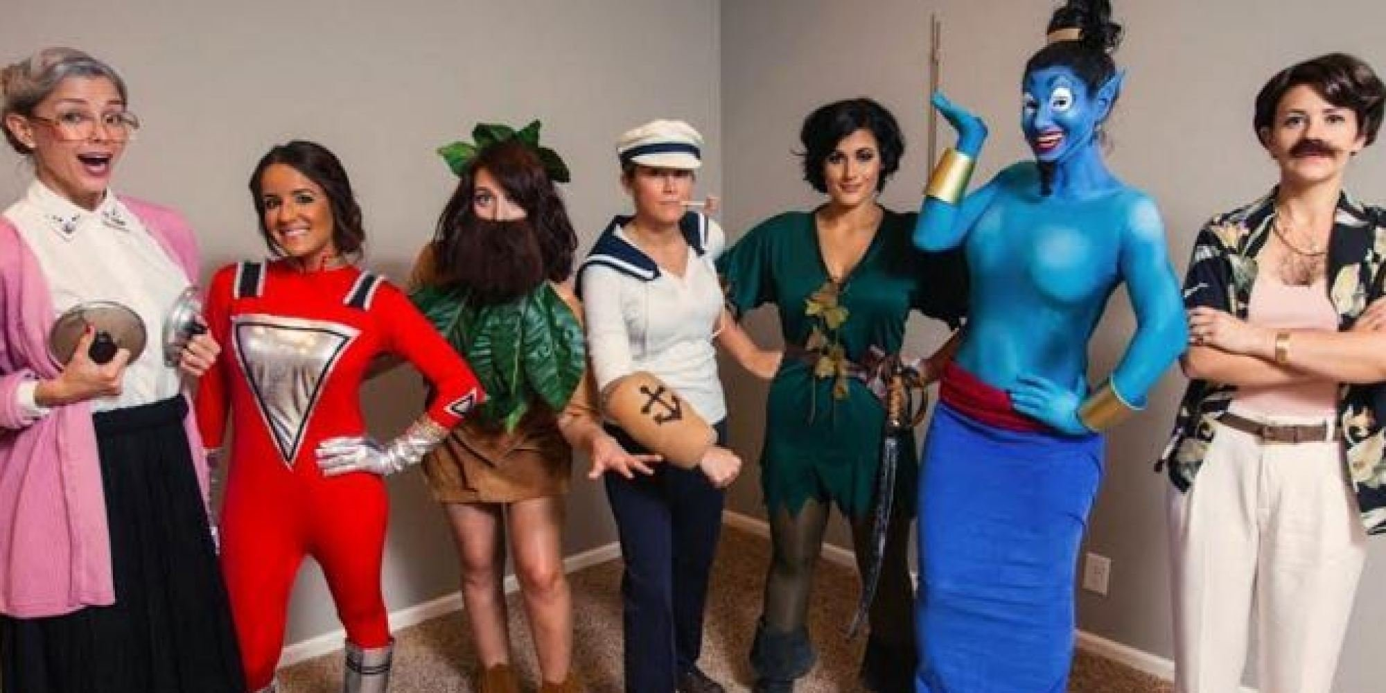 10 Cute Funny Group Halloween Costume Ideas group halloween costume ideas 7 women dress up as one actor every 2021