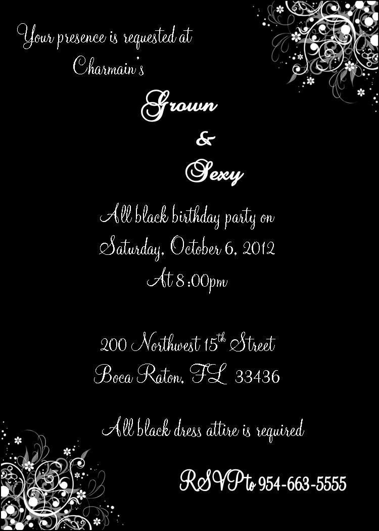 10 Amazing Grown And Sexy Party Ideas grown and sexy all black invitation birthdays 30th party and 30 2020
