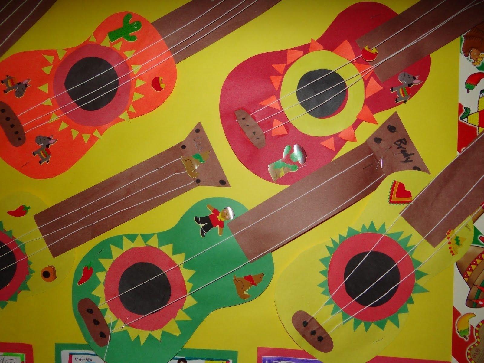 10 Lovable Cinco De Mayo Craft Ideas guitar craft just in time for cinco de mayo kindergartenklub