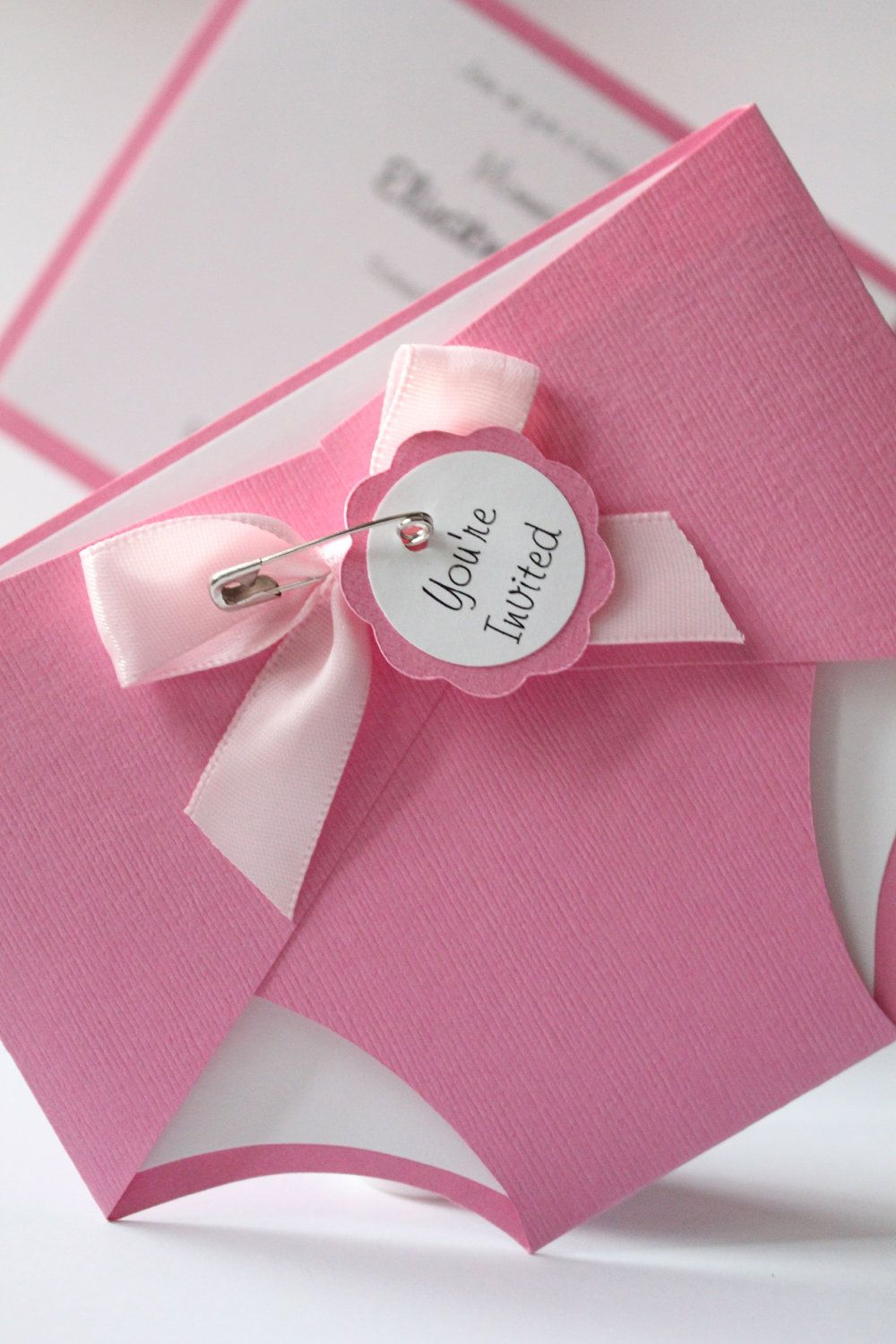 ha. cute idea!#baby shower invitation | craft - card making | diaper
