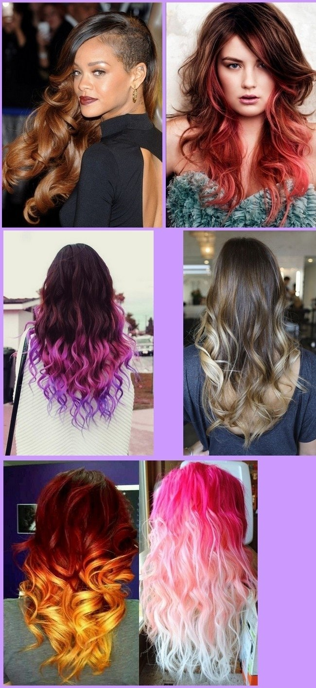 hair color ideas ombre for long hair - women medium haircut