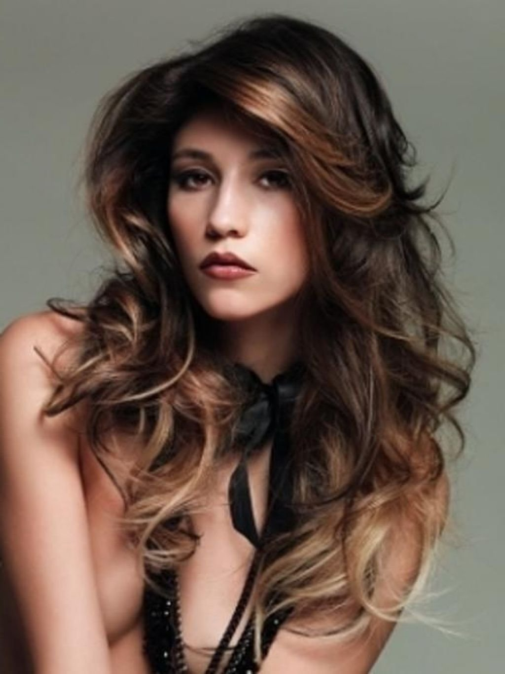 hair color ideas with dark hair - women medium haircut