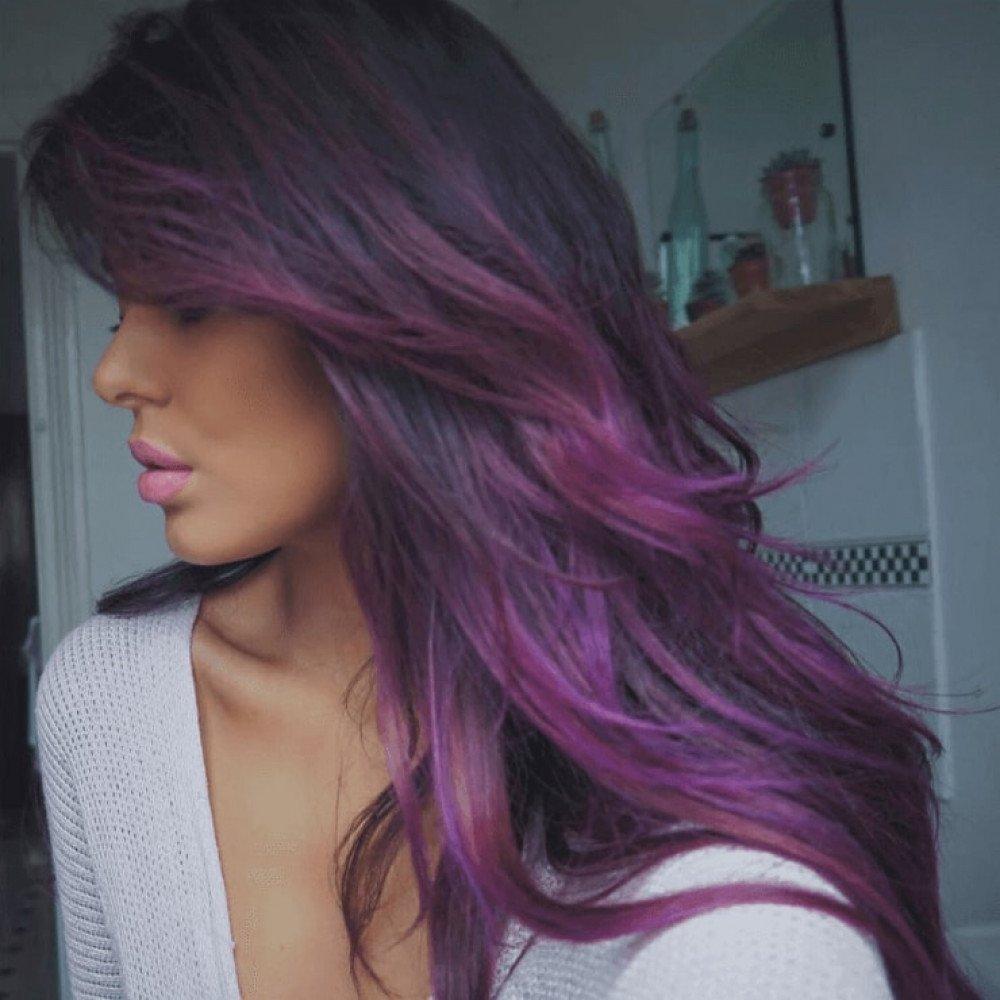10 Famous Hair Dye Ideas For Dark Hair hair dye ideas for dark hair hairstyles hair color for long 2021