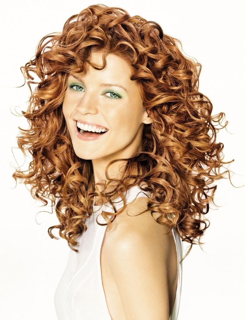 haircuts for long curly hair with bangs - popular long hairstyle