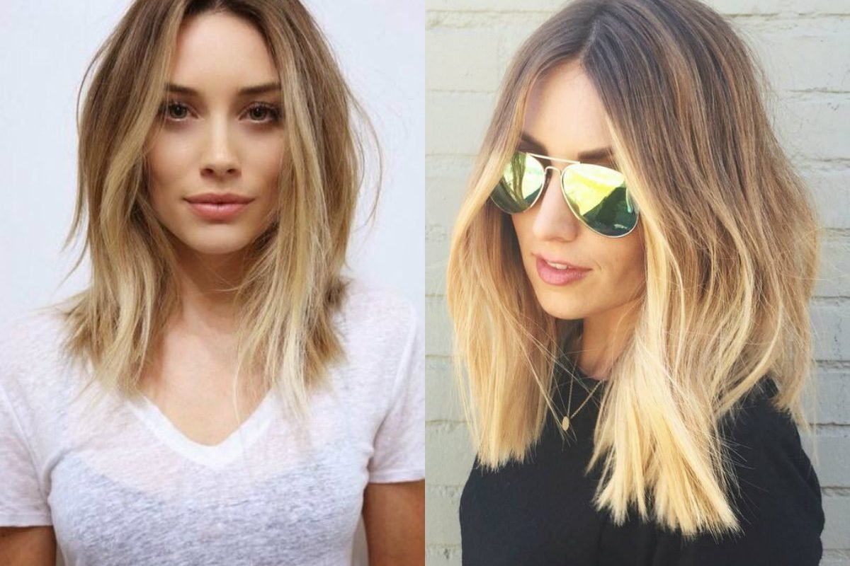 hairstyles mid length ideas hair straight wavy layered with