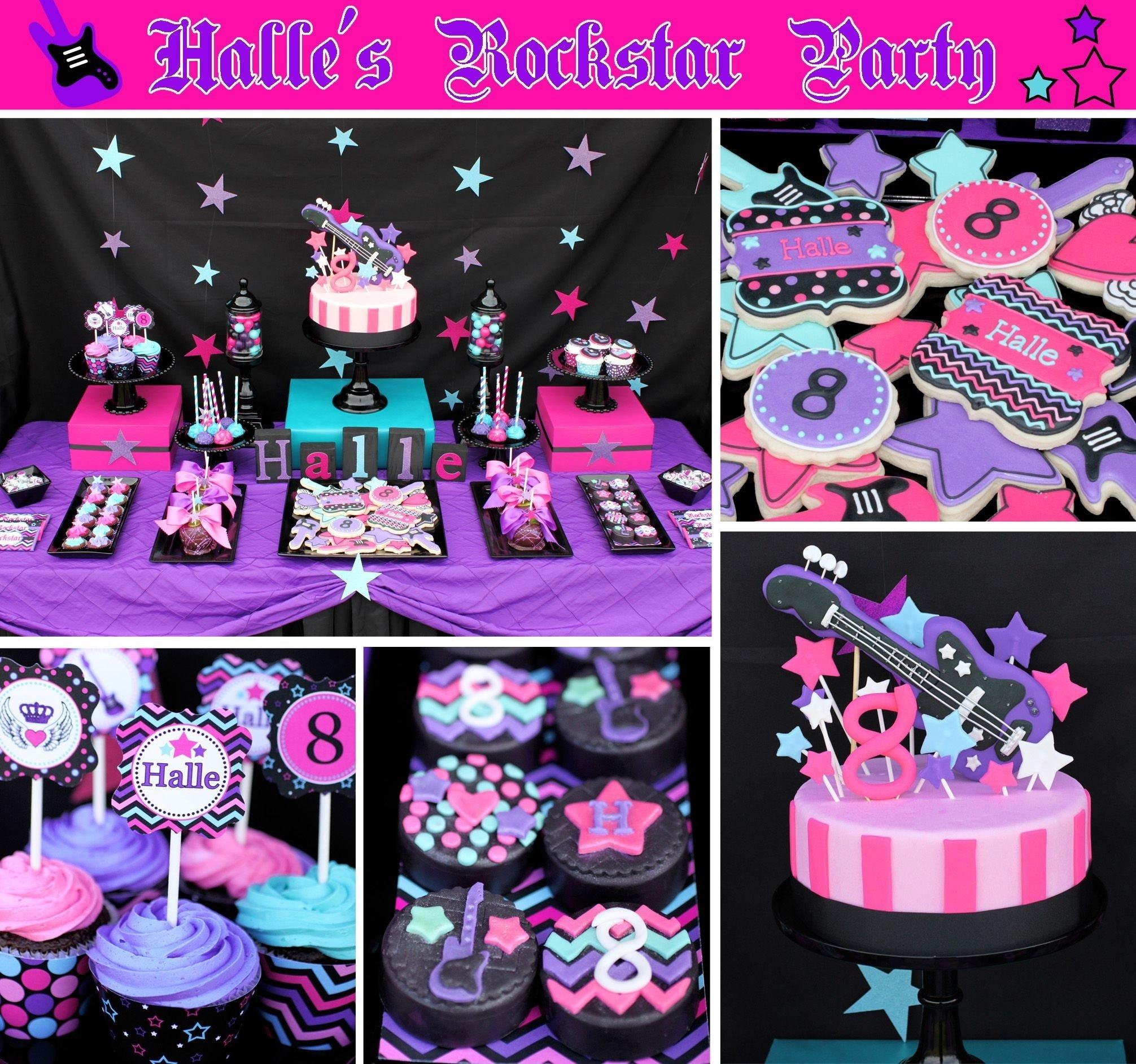 halles rockstar birthday party cake cupcakes rock star   rockstar