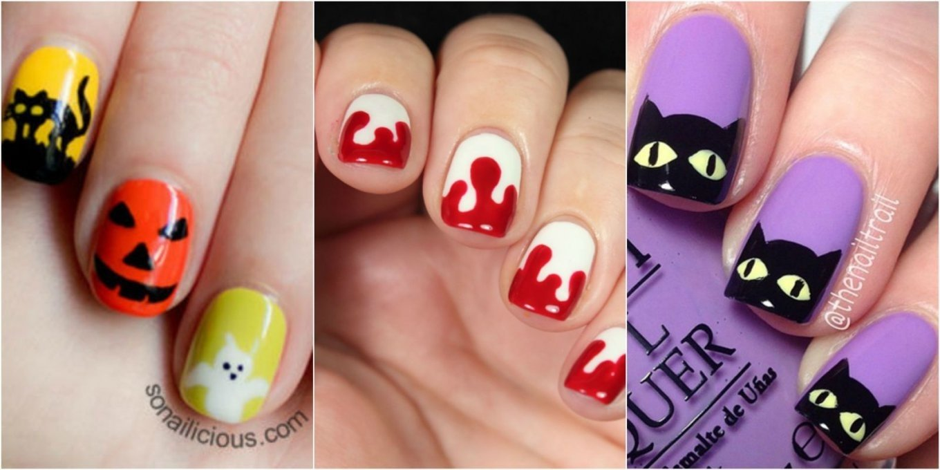 10 Lovable Easy Halloween Nail Art Ideas halloween awesomeen nail art happy nails designs gallery easy 82 2020