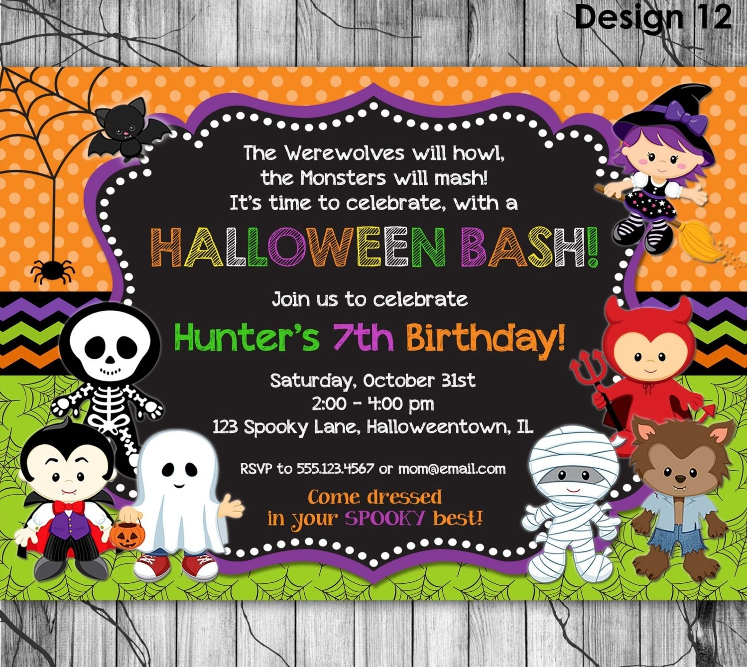 10 Attractive Halloween 1St Birthday Party Ideas halloween birthday party invitations sansalvaje 2020