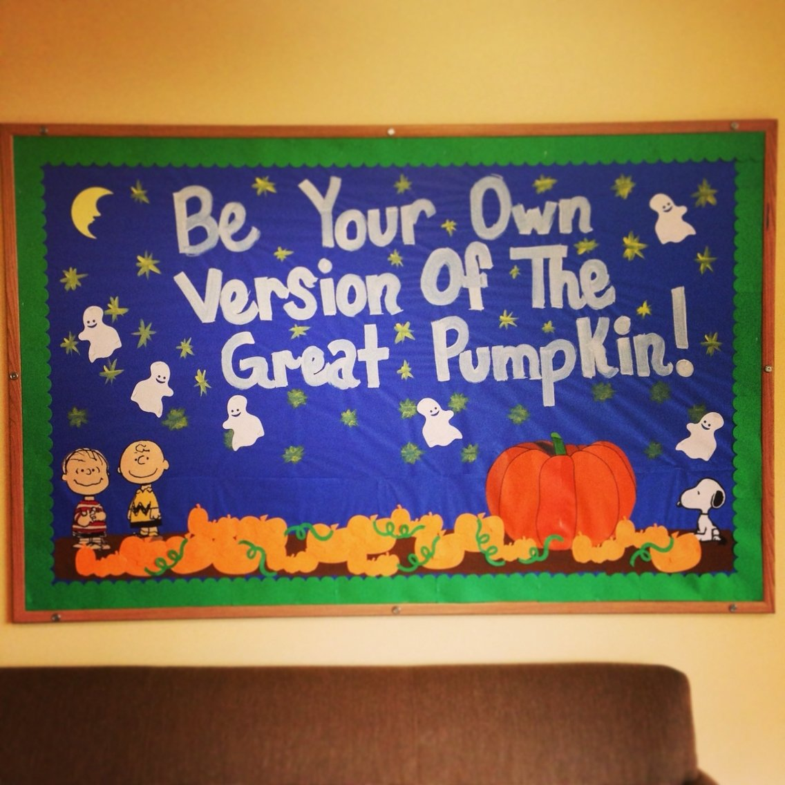 10 Pretty Halloween School Bulletin Board Ideas halloween bulletin boardcharlie brown and the great pumpkin ra 2020