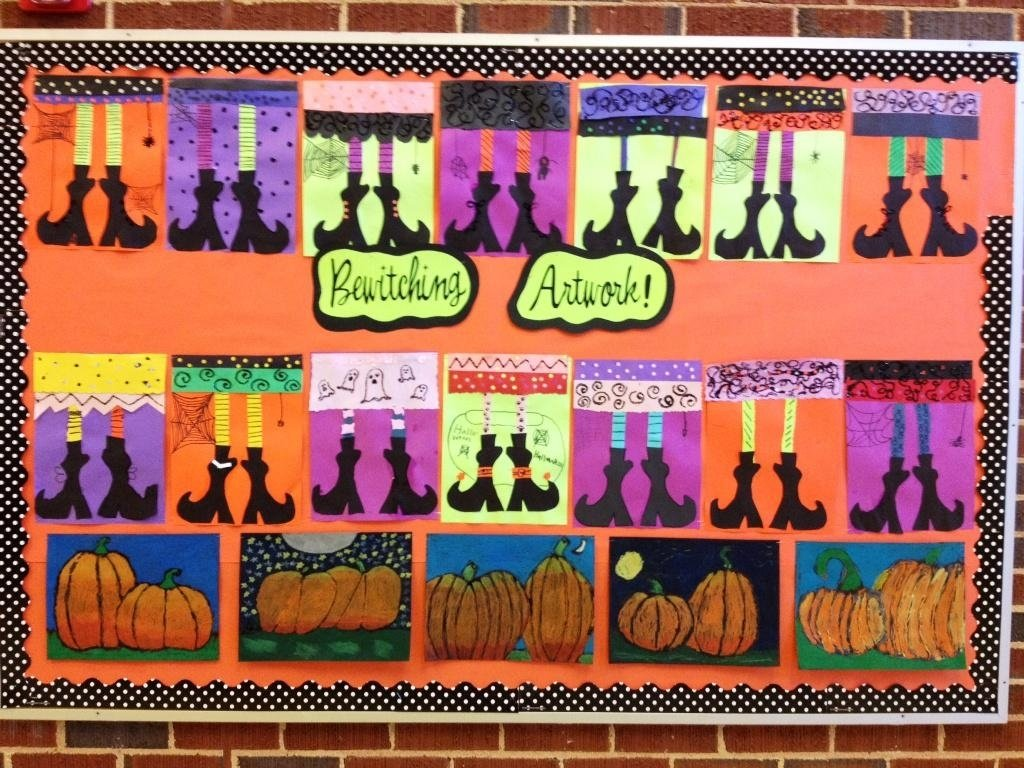 10 Pretty Halloween School Bulletin Board Ideas halloween bulletin boards 2 2020