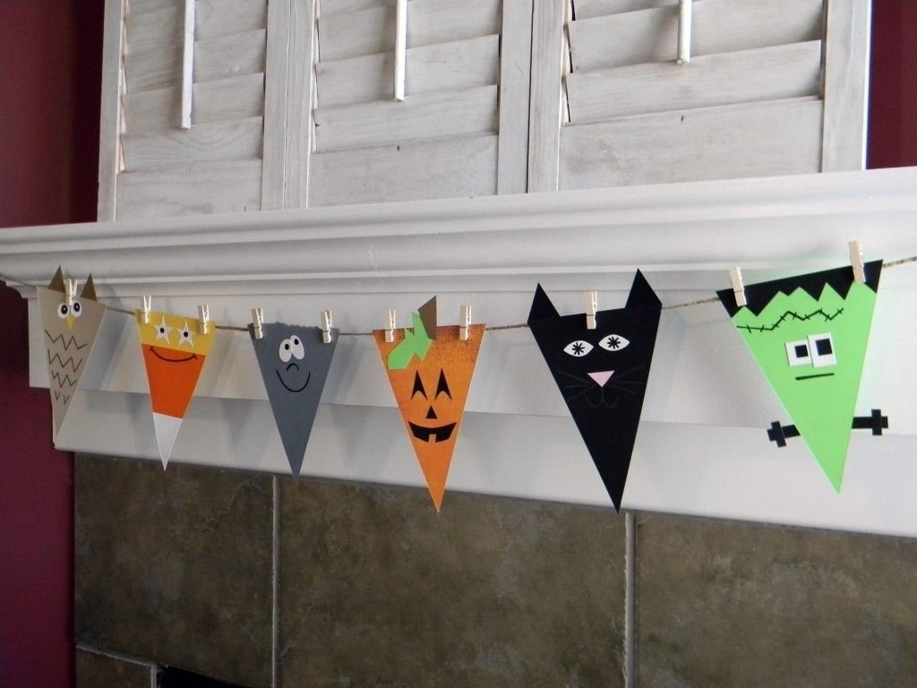 halloween bunting | halloween banner, paper halloween and banners