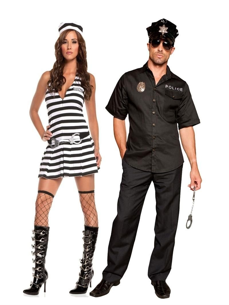 halloween costumes couples, inmate & police couples costume