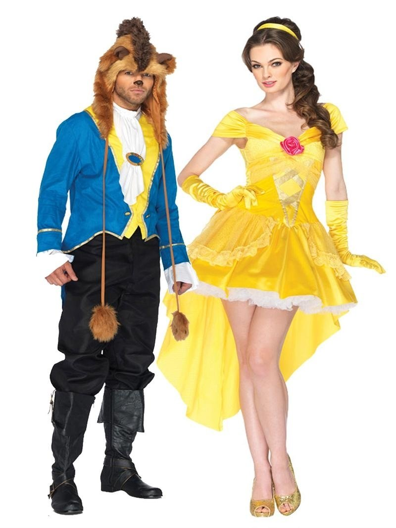 halloween costumes couples new for 2013 - halloween- belle and beast