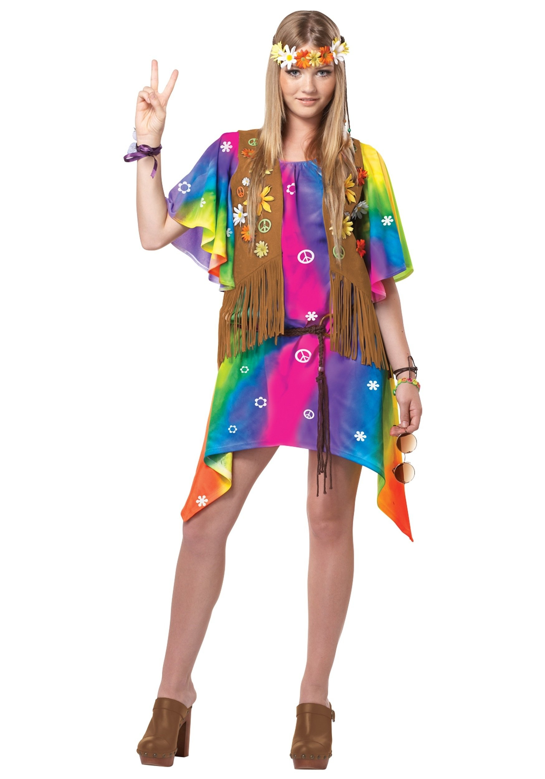 halloween costumes for girls age 10 | teen groovy girl hippie