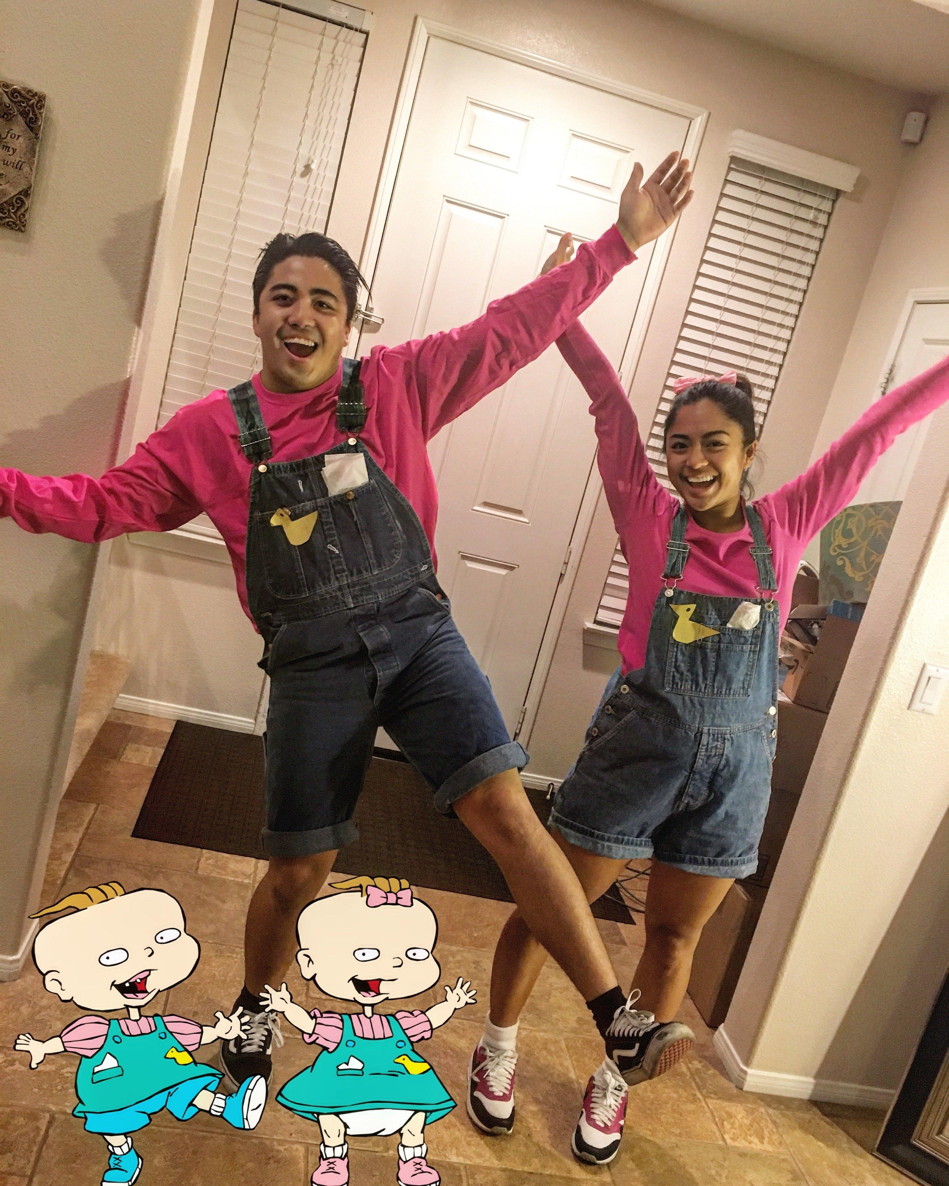 10 Cute Creative Ideas For Halloween Costumes halloween creative couple costume phil and lil from rugrats 2020