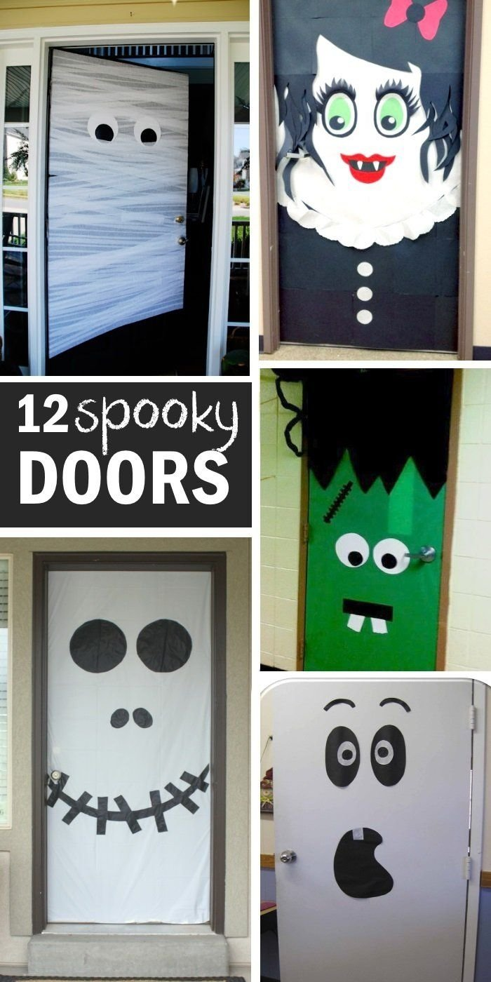10 Fabulous Halloween Door Decorating Contest Ideas halloween door decoration ideas home made halloween decorations 2020