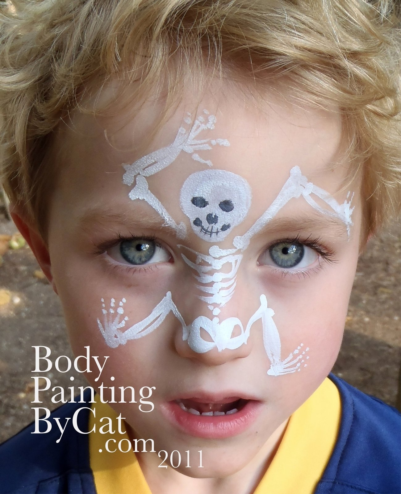 10 Fantastic Kids Halloween Face Painting Ideas halloween face paint body paintingcat 1