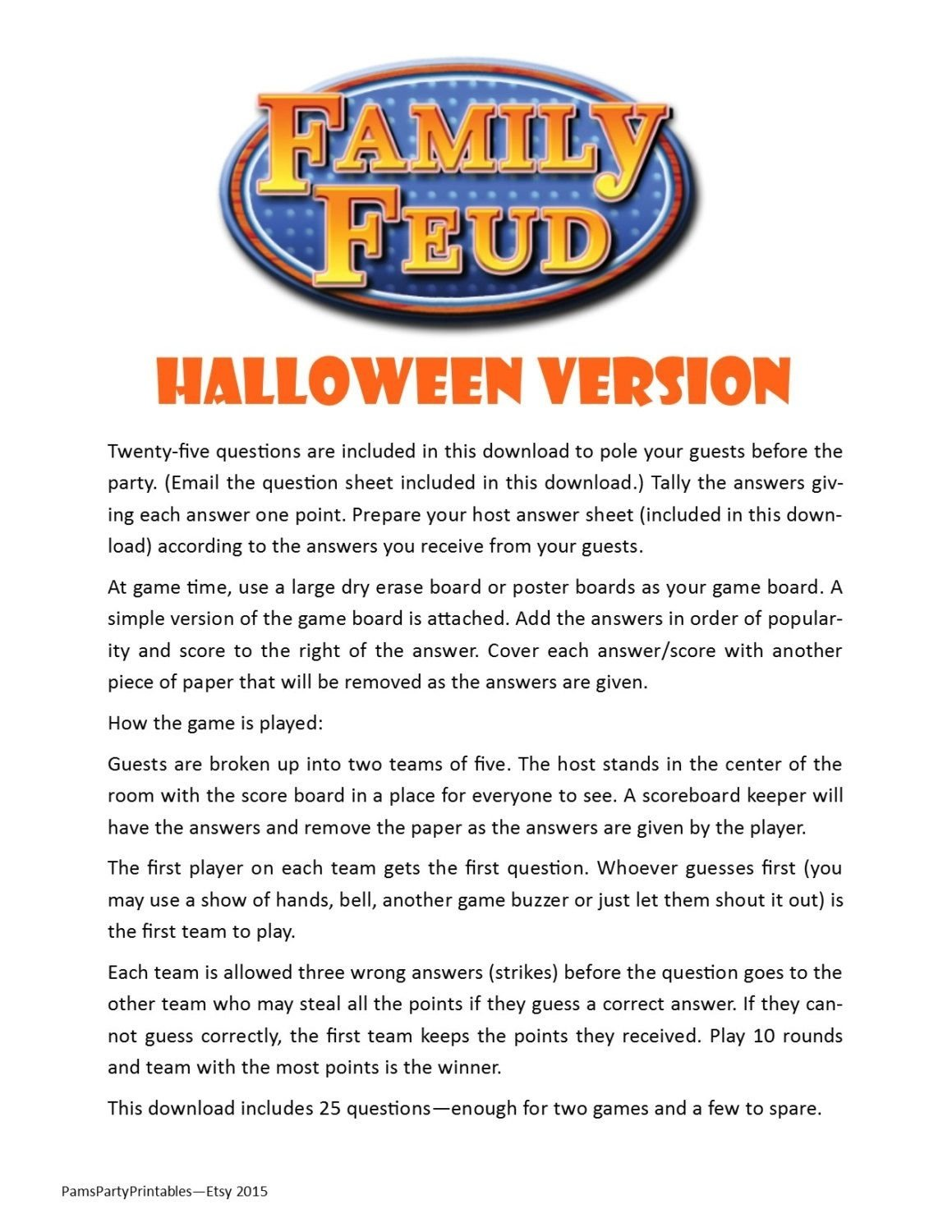 10 Best Youth Group Christmas Party Ideas halloween family feud printable game halloween party game 2020
