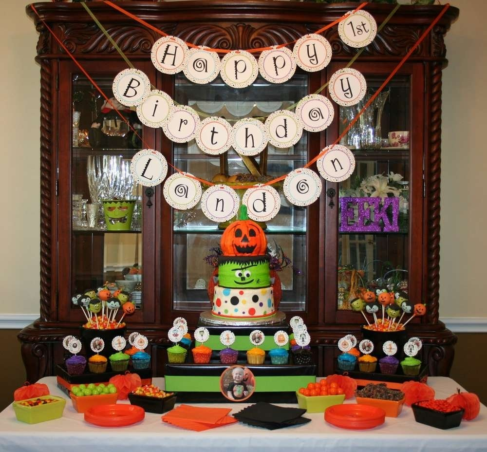 halloween first birthday halloween party ideas | photo 3 of 24