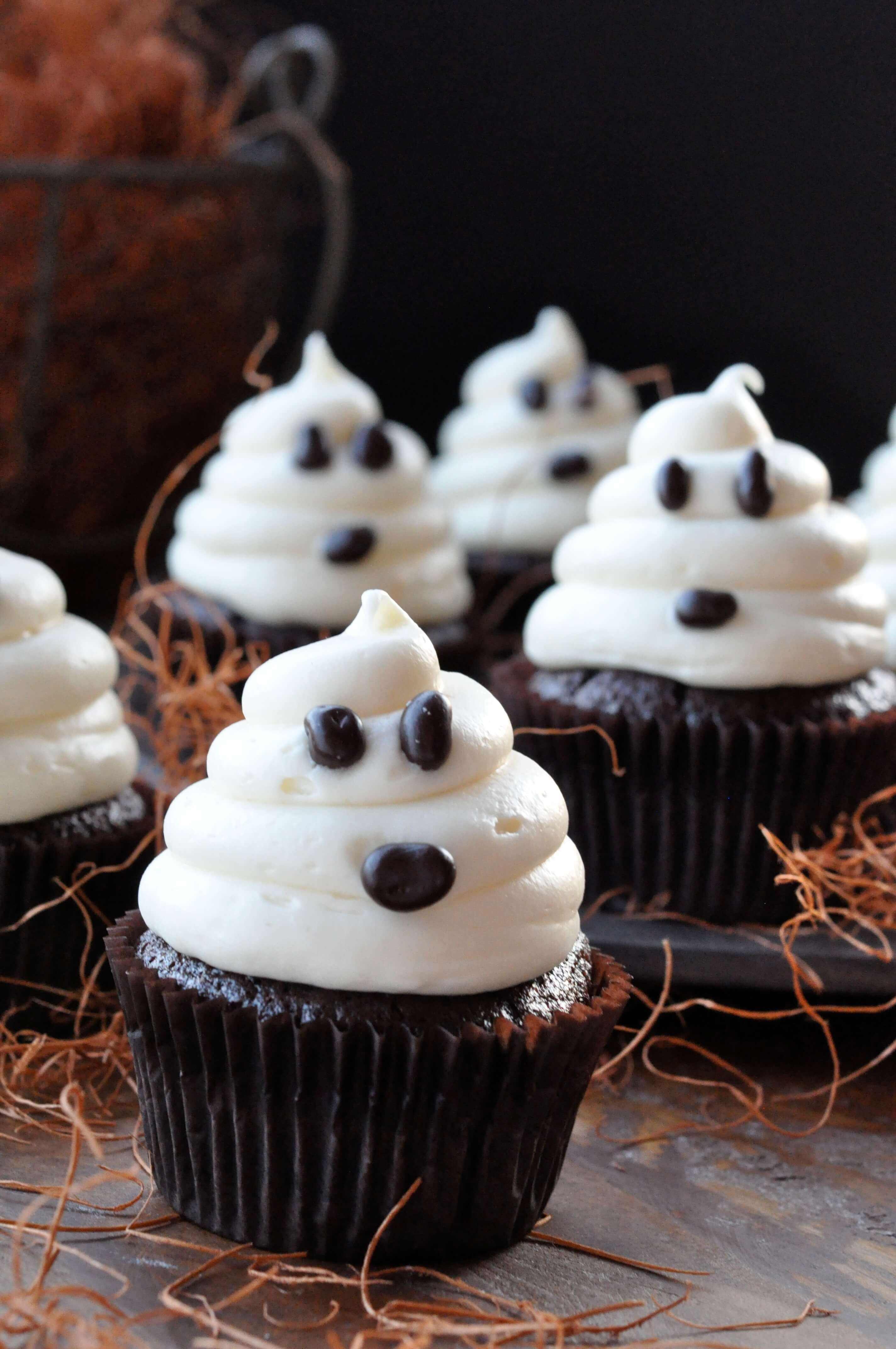 10 Best Halloween Cupcake Ideas For Kids halloween ghosts on carrot cake recipe fast and easy cupcakes 2020