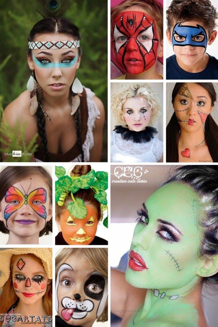 10 Best Cool Halloween Face Paint Ideas halloween ideas and inspiration creative cain cabin 1 2021