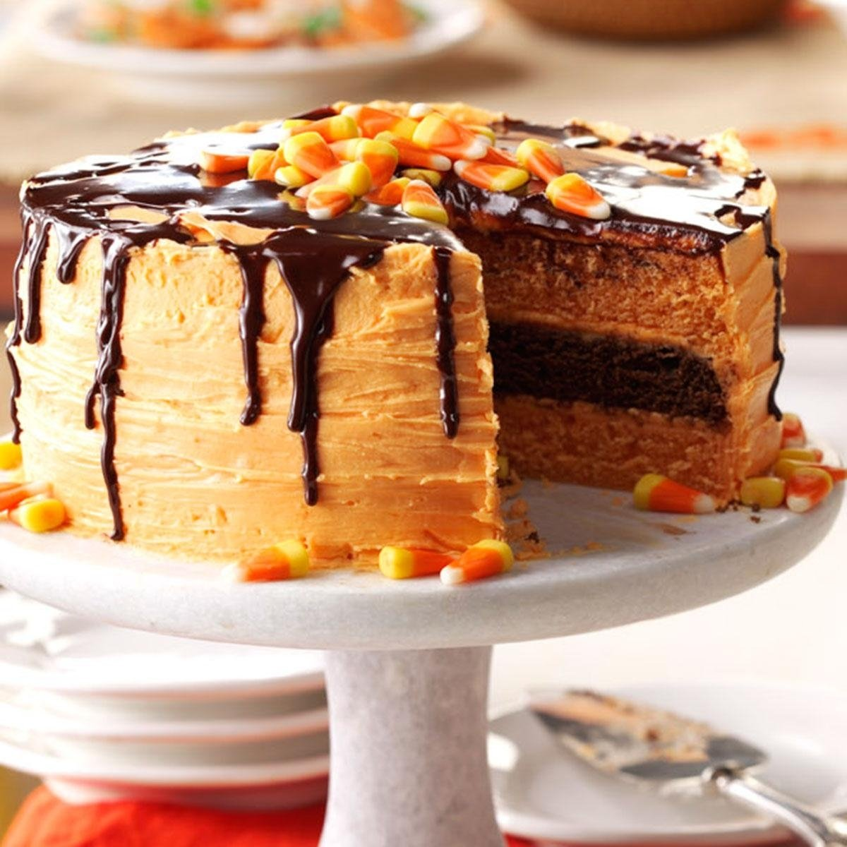 10 Beautiful Easy Halloween Cake Decorating Ideas halloween layer cake recipe taste of home 2020