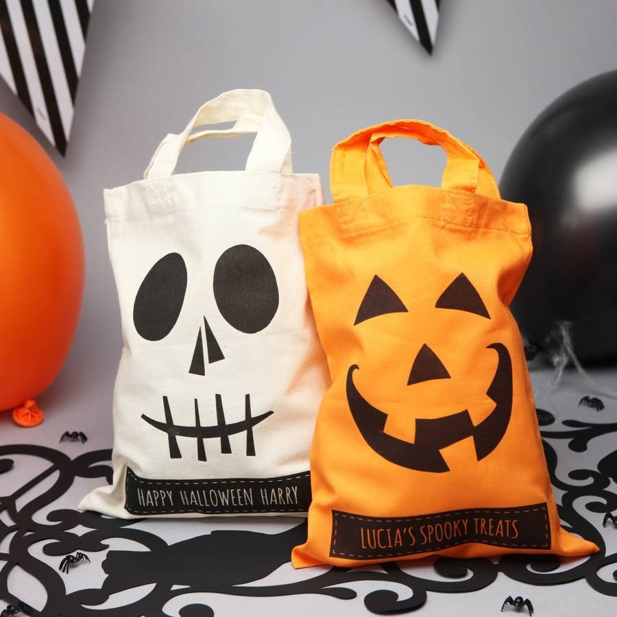 10 Attractive Halloween Trick Or Treat Ideas halloween personalised trick or treat bags spooky halloween 2021