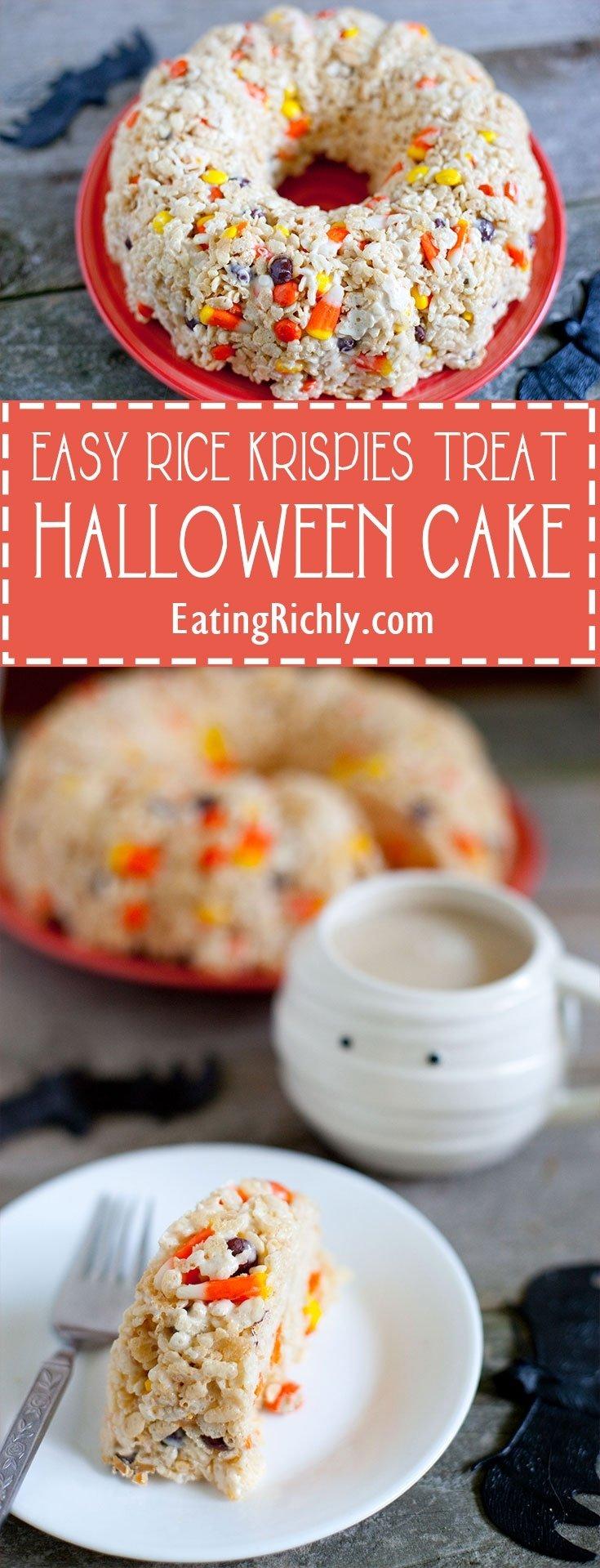 10 Great Halloween Rice Krispie Treat Ideas halloween rice krispie treat cake recipe eating richly 2020