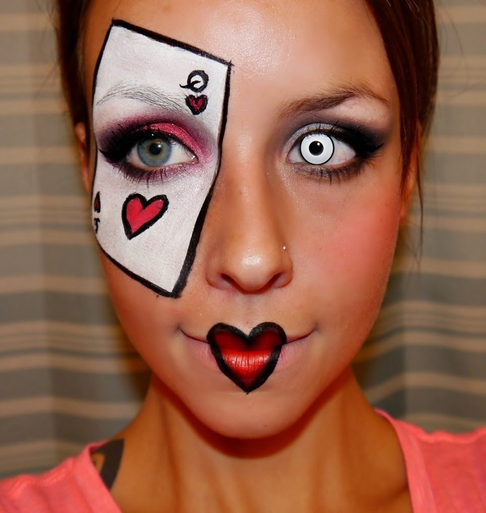 10 Trendy Queen Of Hearts Makeup Ideas halloween series 2012 queen of hearts makeup tutorial youtube 2020